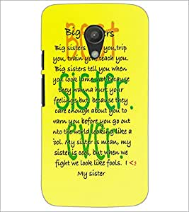 PrintDhaba Quote D-3923 Back Case Cover for MOTOROLA MOTO G2 (Multi-Coloured)