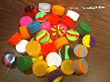 15x Assorted Colors Non-stick Silicone Oil Wax Dab Jar Container
