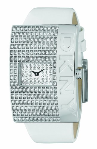 DKNY Ladies Ivory Leather Strap Watch With White Dial