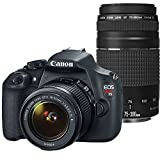 Canon EOS Rebel T5 Digital SLR Camera with EF-S 18-55mm IS II + EF 75-300mm f 4-5.6 III Bundle (Certified Refurbished)