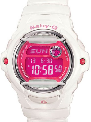 Casio Baby G Watch 200M WR White and Pink BG169R-7D