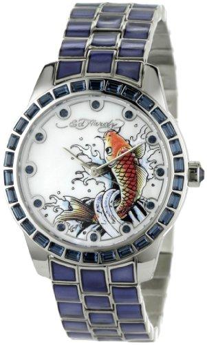 Ed Hardy Women's BE-BL Bella Blue Watch