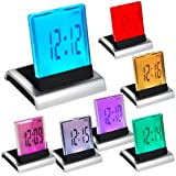 DIGIFLEX Colour 7 LED Digital LCD Alarm Clock+Thermometer
