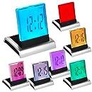 DIGIFLEX RÉVEIL DIGITAL LCD LED 7 COULEURS AVEC THERMOMÈTRE