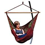 Hanging Caribbean Rope Chair (Burgundy)