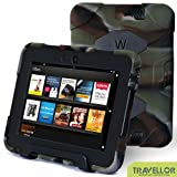 "Kindle Fire HD 7"" Cover Case New Hot Item High Quality Slim Fit Silicone Plastic Dual Protective Back Cover Standing Case Kid Proof Case for Amazon Kindle Fire HD 7 Inch(will Only Fit Kindle Fire HD 7"")-multiple Color Options (Dark Green/Black)"