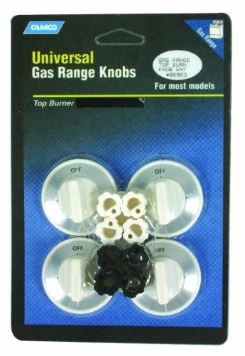 Camco 00983 Gas Range Knobs Top Burner (White) (Gas Stove Knobs White compare prices)