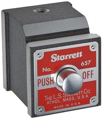 """Starrett 657P Magnetic Base Indicator Holder, 1-15/16"""" Height, 1-5/8"""" Width, 1-7/8"""" Depth"""