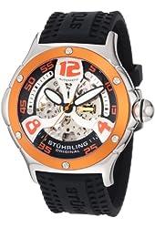 Stuhrling Original Men's 4ATXL.332I617 Champion Alpine Extreme Automatic Skeleton Black Rubber Strap Watch