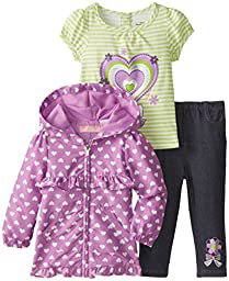 Kids Headquarters Baby Girls\' Purple Jacket with Tee and Jeans, Purple, 18 Months