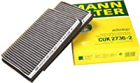 Mann-filter Cuk 2736-2 Cabin Filter With Activated Charcoal For Select Bmw Models -set Of 2 by Mann-Filter
