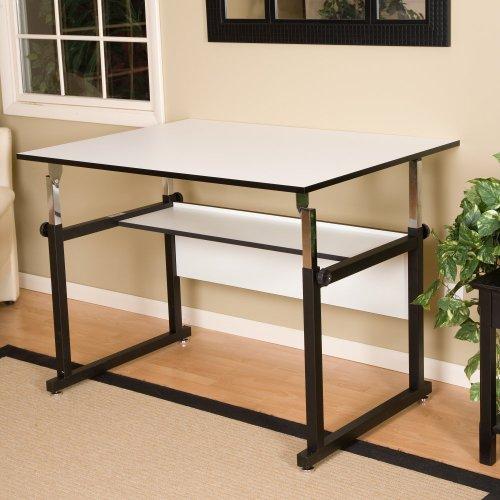 WorkMaster Melamine Drafting Table Frame Finish: Black, Size: 37.5