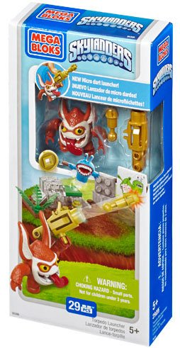 Skylanders SWAP FORCE Mega Bloks Set #95305 Torpedo Launcher Battle Pack