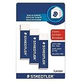 Staedtler Mars Plastic Erasers,Pack of 3 (525C-03BK3)