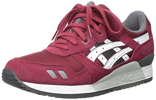 ASICS GEL Lyte III Retro Running Shoe, Burgundy/White, 13 M US