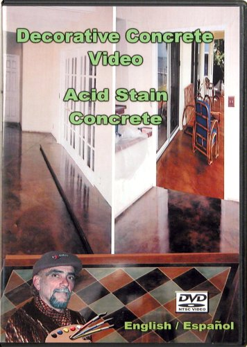 Acid Stain Concrete Video - DVD - JJ Video and Book Productions, LLC - Acid-Stain-DVD - ISBN: B000UYG456 - ISBN-13: 0895760001011