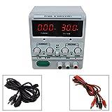 Dr.Meter 30V/5A Single-Output DC Power Supply 110V/220V Switchable, Alligator Clip Included