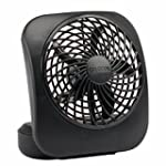 O2COOL 5-Inch Portable Fan, Black
