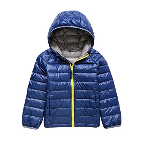 GetUBacK Kids Down Coat Warm Puffer Jacket With Hood Dark Blue 7-8 years growth 120-130 cm (CN 140) (Down Jacket Kids compare prices)