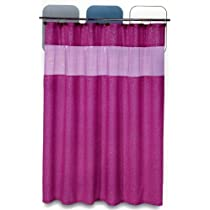 Fuschia Shower Curtain - Pink Disco Swirl