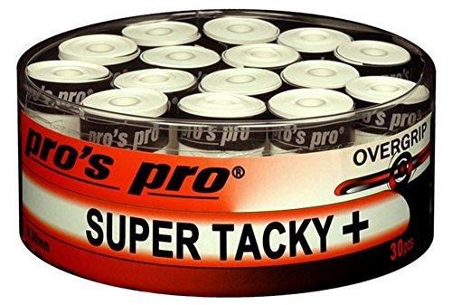 30 Overgrip Super Tacky Tape Tennis Griffbänder weiss