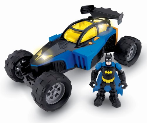 Fisher-Price Hero Svetovni DC Super Friends Preoblikovanje Batmobile in Batman