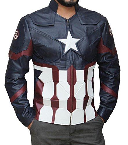 America Favorite Blue Captain Jacket - Super Jacket in Soldier Style (L, Civil War) (Jacket Captain America compare prices)