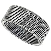 Stainless Steel 3/8 in. (10 mm) Mesh Band (Available in Sizes 5 to 14)