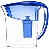 Brita Atlantis Water Filter Pitcher, Blue, 6 Cup