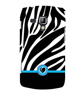 Zebra Love Heart 3D Hard Polycarbonate Designer Back Case Cover for Samsung Galaxy S Duos 2 S7582