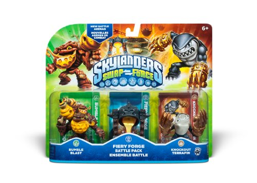 Skylanders SWAP Force Fiery Force Battle Pack - Bumble Blast - Fiery Forge - Knockout Terrafin