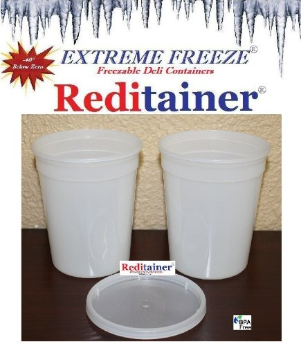 Reditainer Extreme Freeze Deli Food Containers with Lids, 32-Ounce, 24-Pack (Deli Food Container 16 compare prices)