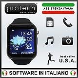 Prowatch Plus - ORIGINALE IN ITALIANO - Smartwatch orologio touch intelligente PW1 con funzione telefono - Compatibile con Android e iPhone Ios 6 plus S