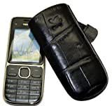 Suncase Original Case Genuine Leather with Pull-Up Strap for Nokia 113