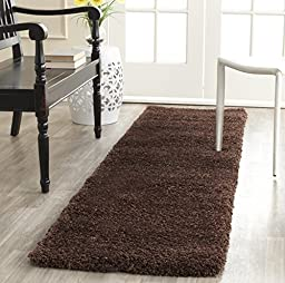 Safavieh Milan Shag Collection SG180-2525 Brown Area Rug, 2 feet by 4 feet (2\' x 4\')