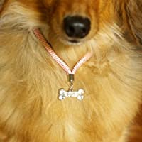 B3alance静電気除去 ペットのアクセサリー~きらきらボーン(ブラック M)~静電気ストレスが減ってスキンシップが増える!日本製Static Free Collar for companion animal