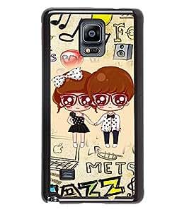 PRINTVISA Muscial Drama Premium Metallic Insert Back Case Cover for Samsung Galaxy Note 4 - N910F - D5904