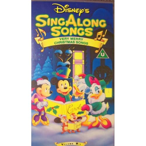 Disney Sing Along Songs Very Merry Christmas Songs 2002.Disney S Very Merry Christmas Sing Along Songs 2002 Vhs