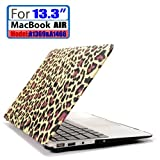 LEIMI ® AIR 13-inch Rubberized Hard Matte Case Cover for Apple MacBook Air 13.3 (Models: A1369 and A1466) (New- Brown Leopard)