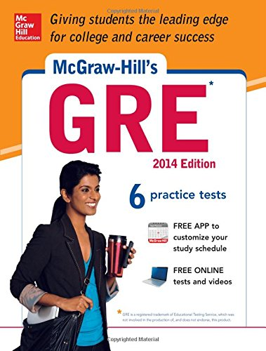 McGraw-Hill's GRE, 2014 Edition: Strategies + 6 Practice Tests + Test Planner App (Mcgraw Hill Education Gre Premium) (Second Grad Learning App compare prices)