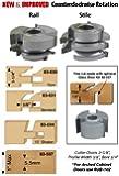 "InfinityTools 83-034, 2-Piece 15° Shaker Rail & Stile Matched Shaper Cutter Set, 3/4"" Bore"