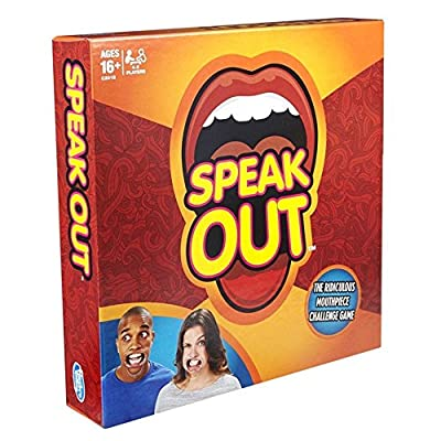 Speak Out Board Game for Christmas Halloween Family Edition, the Authentic, Hilarious Mouth Guard Party Game