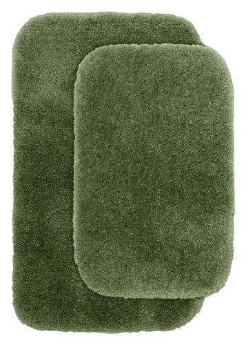 Garland Rug 2-Piece Finest Luxury Ultra Plush Washable Nylon Bathroom Rug Set, Deep Fern front-481256