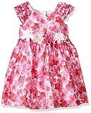 Laura Ashley London Girls' Little Hot Pink Floral Dress, Multi, 4