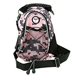 CMC Scottsdale Pink Digi Camo Midi Day Pack with Dragonfly Medallion