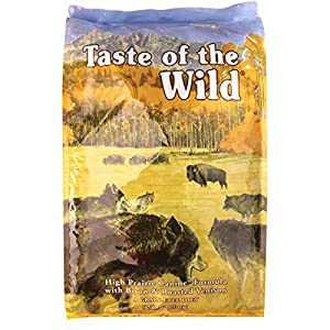 Taste of the Wild Dry Dog Food, Hi Prairie Canine Formula with Roasted Bison & Venison, 30-Pound Bag, Plus FREE Freeze Dried Meal Mixer valued at $12.99