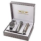 Montre-Concept - coffret cadeau montre Homme avec couteau multifonction, lampe de poche et stylo : CCL-1-0067