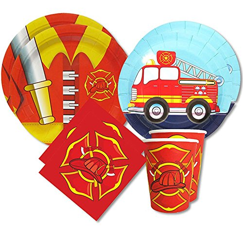 Fire-Truck-Standard-Party-Packs-For-16-Guests