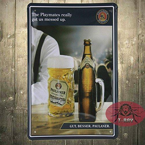 vintage-paulaner-munich-bier-cerveza-alemana-signo-de-metal-porcelana-raro-a-21