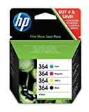 HP No.364 Print Cartridges - Black/ Yellow/ Cyan/ Magenta